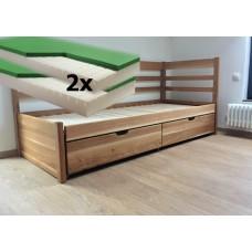 Luxusný set s matracmi Dubai - Rozkladacia posteľ z masívu Bellona