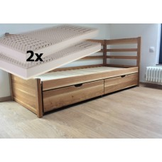 Set s matracmi Bali (s pametovou penou) - Rozkladacia posteľ z masívu Bellona