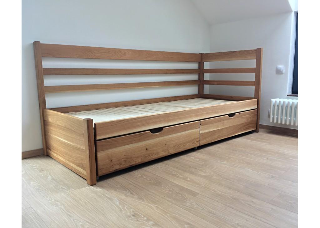 Rozkladacia posteľ z masívu Bellona (bez matracov)