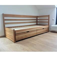 Set s matracmi Sal - Rozkladacia posteľ z masívu Bellona