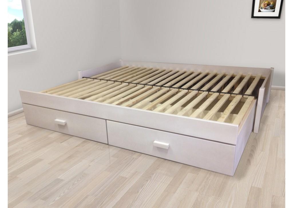 Rozkladacia posteľ z masívu Jupiter (bez matracov)