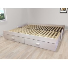 Luxusný set s matracmi Dubai - Rozkladacia posteľ z masívu Jupiter