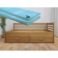 Set s matracmi Sal - Rozkladacia posteľ z masívu Klaudia
