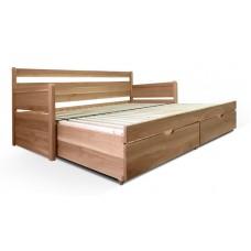 Luxusný set s matracmi Dubai - Rozkladacia posteľ z masívu Santiago