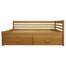Rozkladacia posteľ z masívu Klaudia (bez matracov)