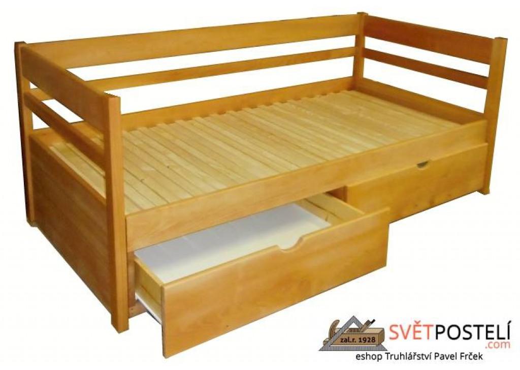 Rozkladacia posteľ z masívu Monika (bez matracov)